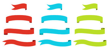 Ribbon flags Royalty Free Stock Images
