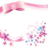Ribbon and Florist Background Stock Photography