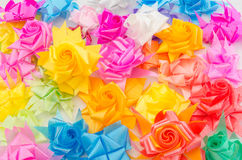 Ribbon flower. Fold are colorful ribbon flower Stock Photo