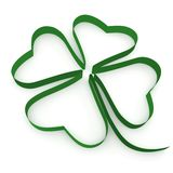Ribbon folded in the form of leaf clover Royalty Free Stock Images