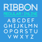 Ribbon font Stock Photography