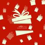 Ribbon in the form of gift Royalty Free Stock Images