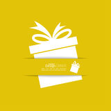 Ribbon in the form of gift  with shadow and space Royalty Free Stock Photography