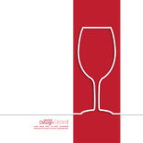 Ribbon in the form of wine glass with shadow and Royalty Free Stock Photography