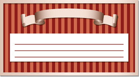 Ribbon in a frame Royalty Free Stock Photography