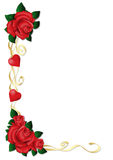 Ribbon frame with roses Royalty Free Stock Image