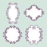 Ribbon frames Stock Images