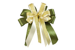 Ribbon gift bow isolated on white Stock Photo