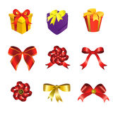Ribbon and gift box Royalty Free Stock Photography