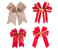 Ribbon for gift box or decoration. Studio shot isolated on white Royalty Free Stock Photos