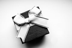 Ribbon on gift box Stock Photos