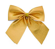 Ribbon gift gold bow Stock Photo