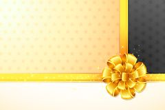 Ribbon on Gift Paper Stock Photography