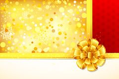 Ribbon on Gift Paper Stock Photos