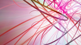 Ribbon Glow Light Spectrum Stock Photo