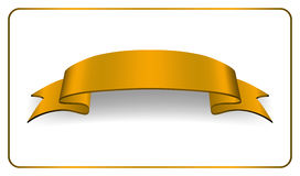 Ribbon gold banner Satin blank collection Stock Image