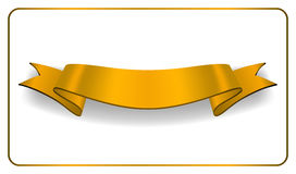 Ribbon gold banner Satin blank collection Stock Photo