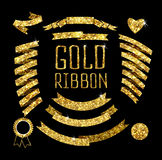 Ribbon of gold glittering star Royalty Free Stock Images