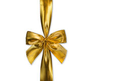 Ribbon. Golden ribbon isolated on white. Clipping path included Royalty Free Stock Photography