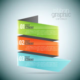 Ribbon Graphic Copyspace Royalty Free Stock Photo