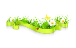 Ribbon in the grass Stock Photo