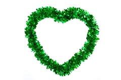 Ribbon green heart Stock Photography