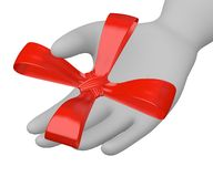 Ribbon in hand Royalty Free Stock Photos