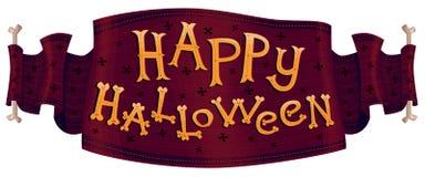 Ribbon Happy Halloween Royalty Free Stock Photos