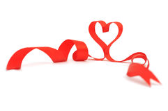 Ribbon heart Royalty Free Stock Photos