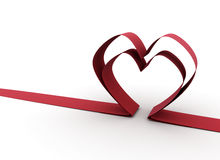 Ribbon heart Royalty Free Stock Images