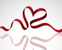 Ribbon heart Royalty Free Stock Photo