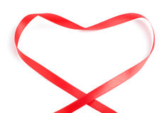 Ribbon heart Royalty Free Stock Image