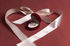 Ribbon heart Stock Photography