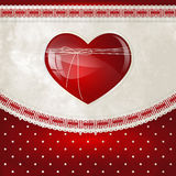 Ribbon heart Royalty Free Stock Photo