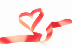Ribbon heart Stock Image