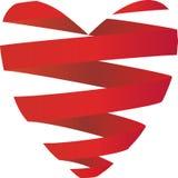 Ribbon Heart. Heart fashioned from Ribbons Stock Photos