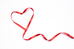 Ribbon heart. Isolated valentine love Royalty Free Stock Photography