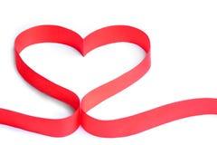 Ribbon heart. Love red feeling feelings respect intimate enjoy spirit decoration Stock Image