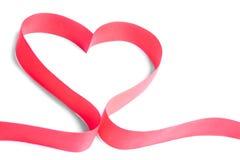 Ribbon heart. Love red feeling feelings respect intimate enjoy spirit decoration Stock Images