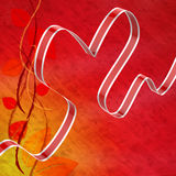 Ribbon Heart Means Love Affection And Attraction Stock Photo