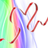 Ribbon Heart Means Passionate Relationship Or Royalty Free Stock Photos