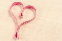 Ribbon heart Royalty Free Stock Photos