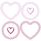 Ribbon heart vector frames clipart. Set royalty free illustration
