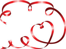 Ribbon with heart Royalty Free Stock Photography