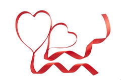 ribbon hearts Stock Photography