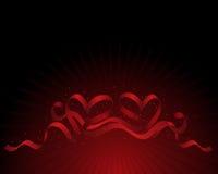 Ribbon hearts Royalty Free Stock Photo