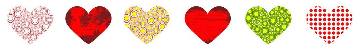 Ribbon with hearts Stock Photo