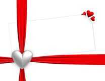 Ribbon and hearts Stock Photography