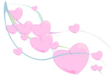 Ribbon of Hearts Stock Photography