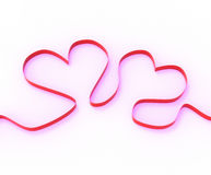 Ribbon Hearts Mean Romantic Anniversary Royalty Free Stock Images